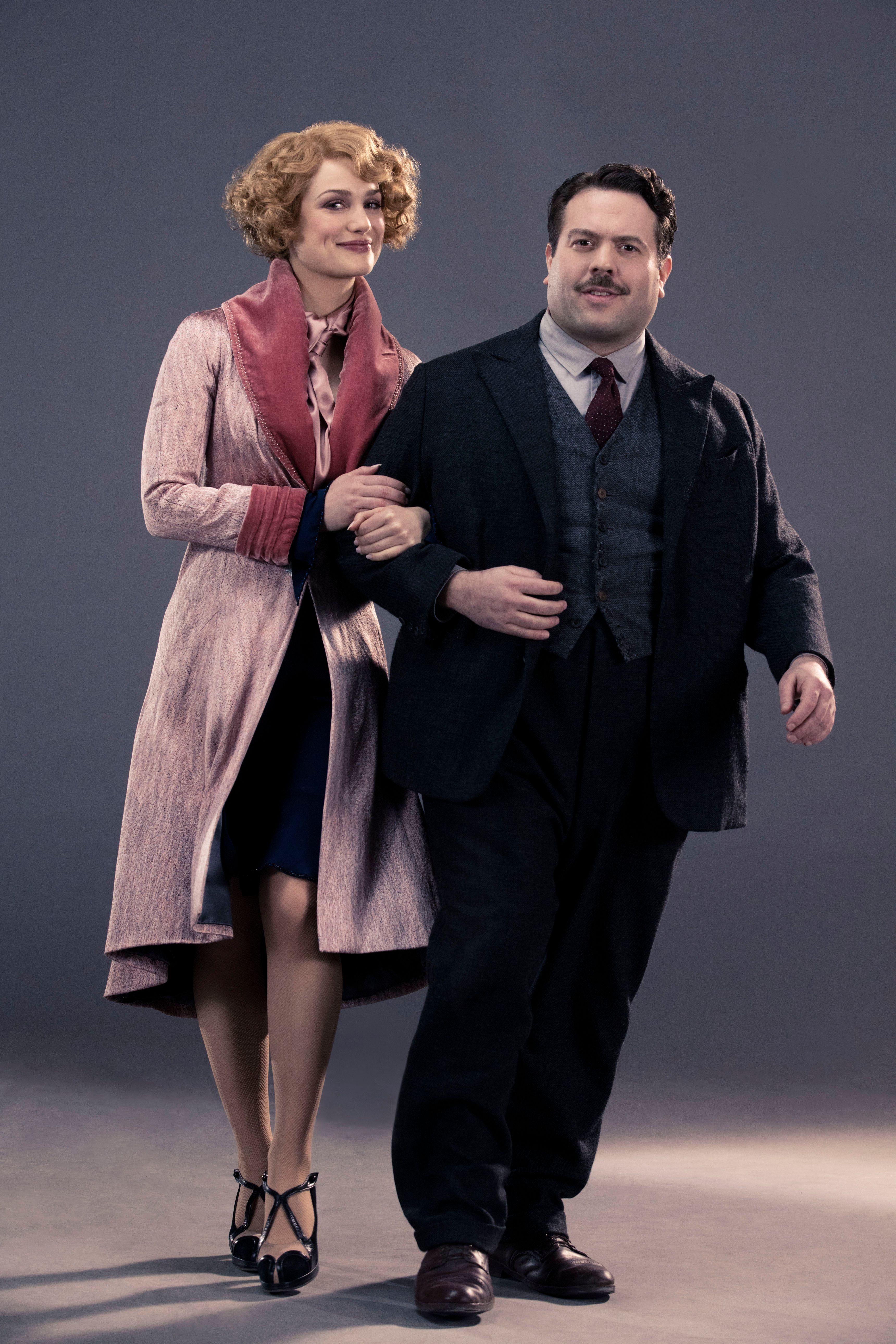 Queenie (Alison Sudol) and Jacob (Dan Fogler), promotional photo for 'Fantastic Beasts and Where to Find Them', 2016