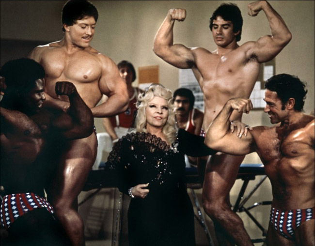 Marlo Manners (Mae West), scene from 'Sextette', 1977