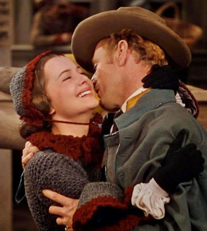 Olivia de Havilland as Melanie Hamilton and Leslie Howard as Ashley Wilkes in 'Gone with the Wind', 1936 novel, 1939 film