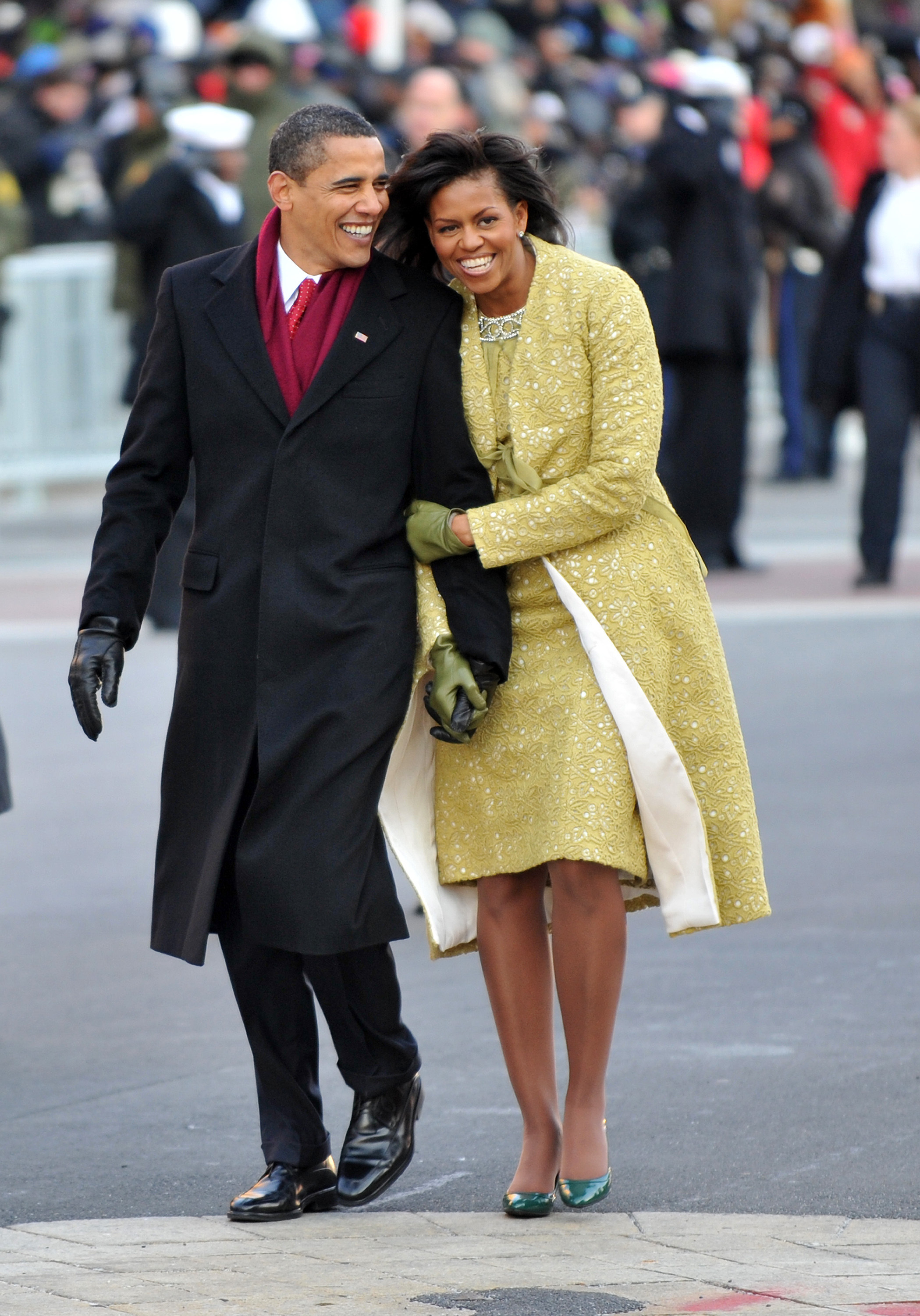 Michelle and Barack Obama as his first Presidential inauguration, 2009