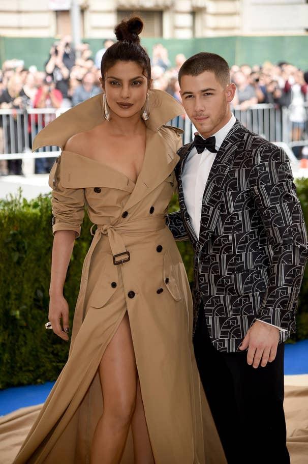 Priyanka Chopra and Nick Jonas attend the Met Gala, 2017, New York City