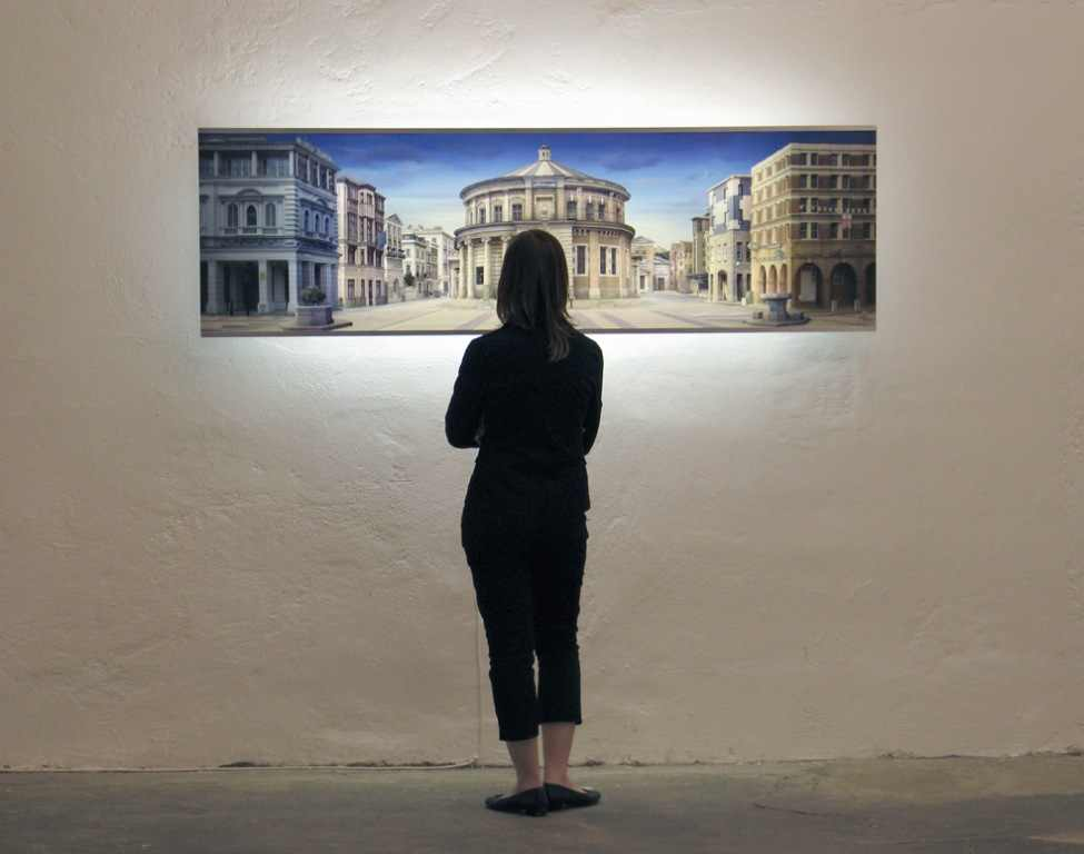 Ideal City (after Piranesi), Emily Allchurch, 2006.This is an installation view of another Allchurch's lightbox (not part of Manchester exhibition)