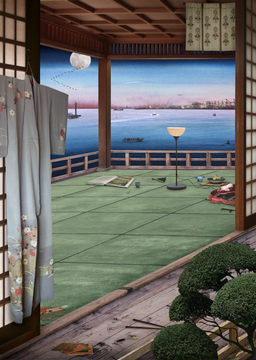 Tokyo Story 4: Interior (after Hiroshige),2011, Emily Allchurch