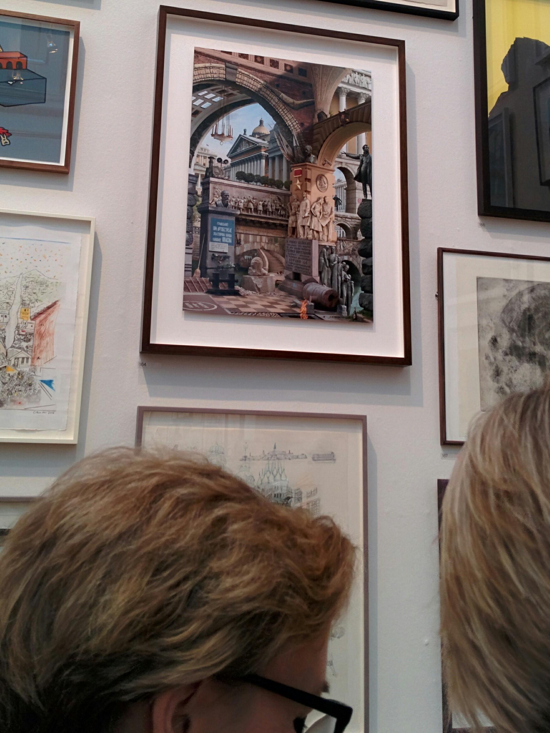 Emily Allchurch's work 'Urban Chiaroscuro 8: St. Petersburg (after Piranesi)' at the Royal Academy Summer Exhibition 2014