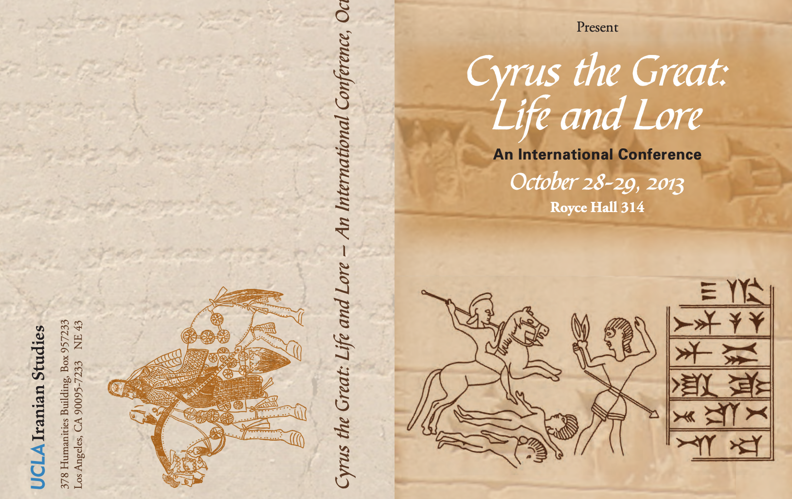 'Cyrus the Great: Life and Lore' conference prospectus (detail), 2013, UCLA, Los Angeles, U.S.A.