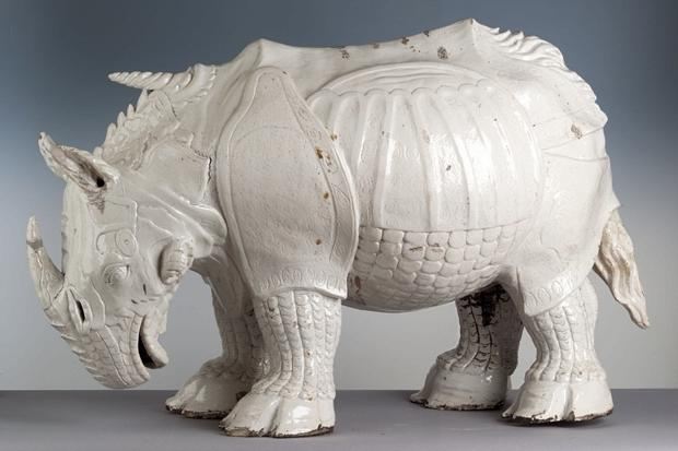 Meissen Porcelain Rhinoceros, after Albrecht Dürer, 1515