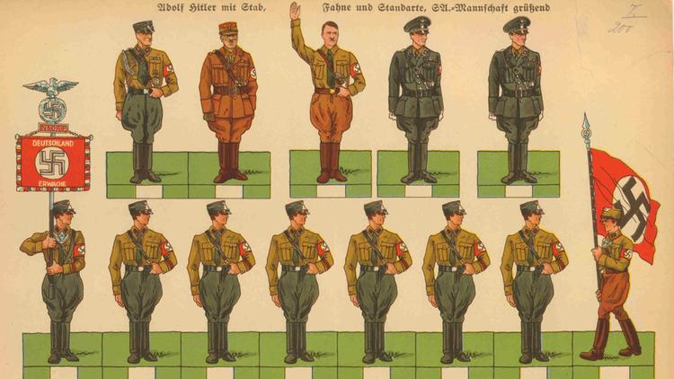 Paper Nazi Soldiers, c. 1933-43