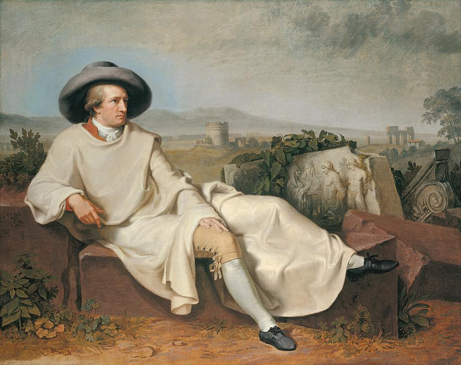 Goethe in the Roman Campagna,Tischbein,1787