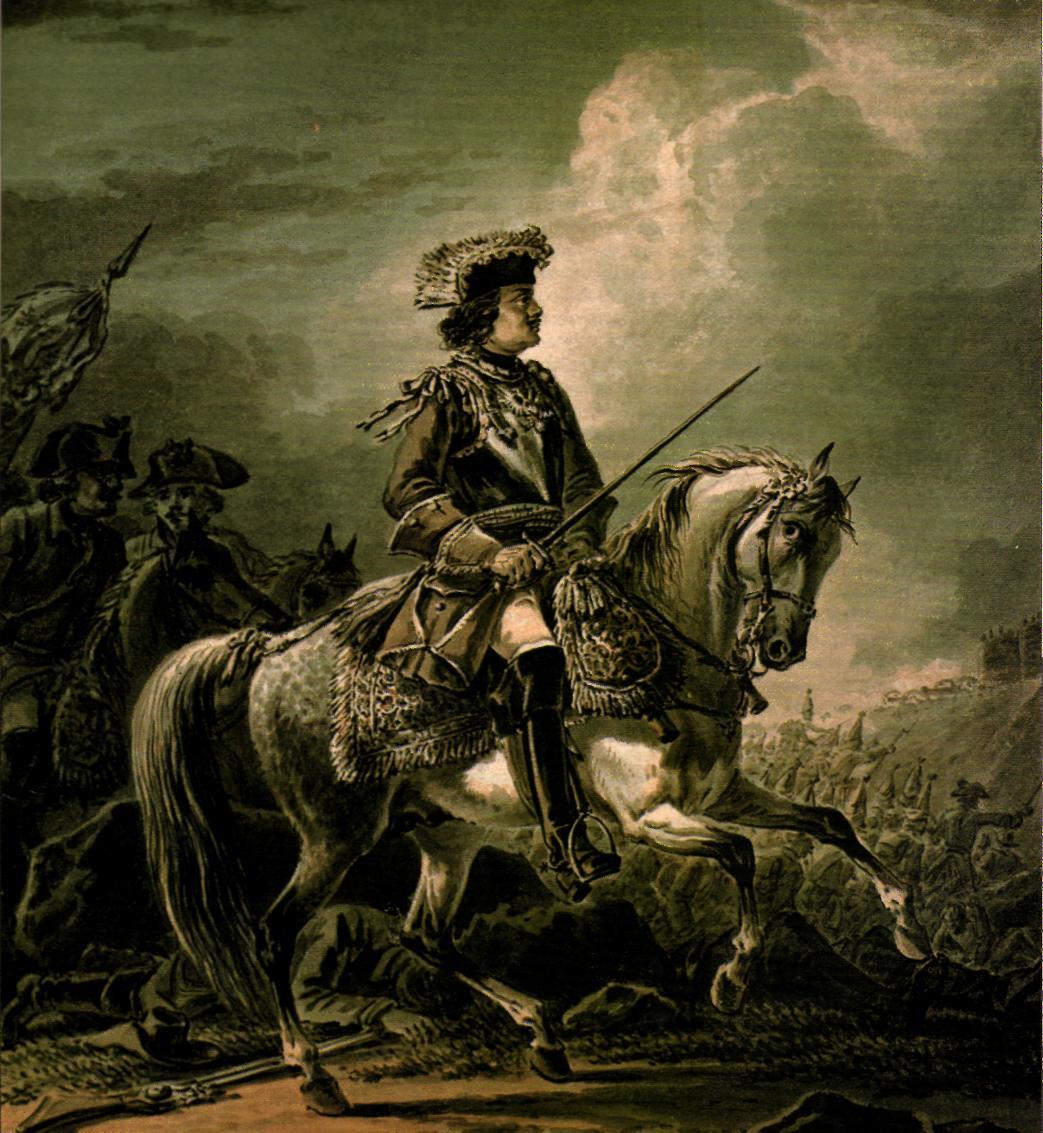 Peter I on horseback, 1824, A.Orlowski