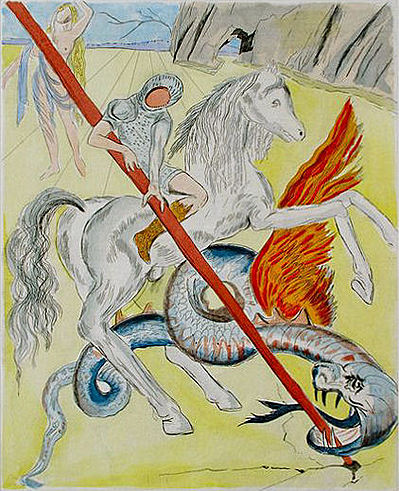 St. George and the Dragon,1978, Salvador Dalí