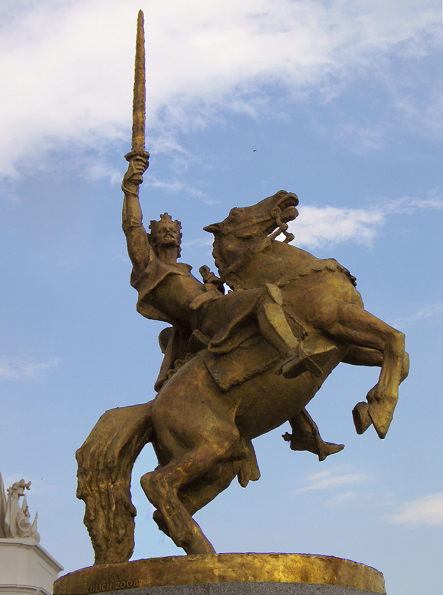 Statue of Svätopluk, 2010, Ján Kulich, Bratislava, Slovakia