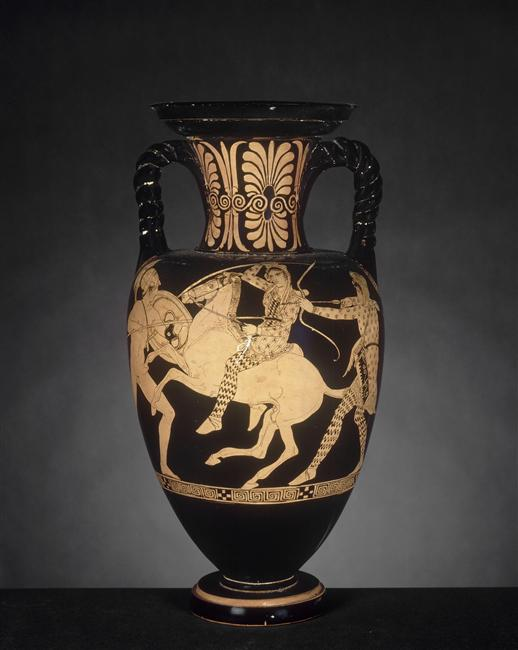 Amphora with the depiction of Amazonomachy,435-415 BC, painted by Aison