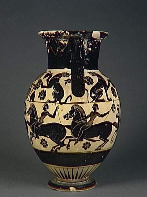 Amphora with horse riders, cr. 560-530 BC, Reggio di Calabria