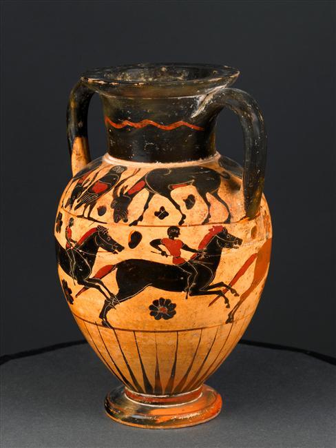 Amphora with horse riders, cr. 560-540 BC, Reggio di Calabria
