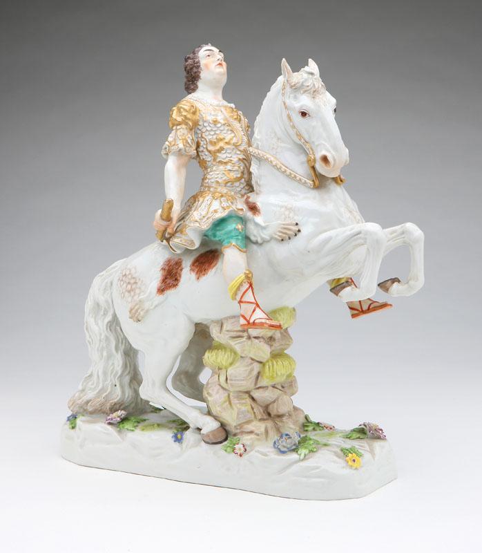 Augustus III porcelain figurineModel by Johann J. Kaendler,Late 19th century