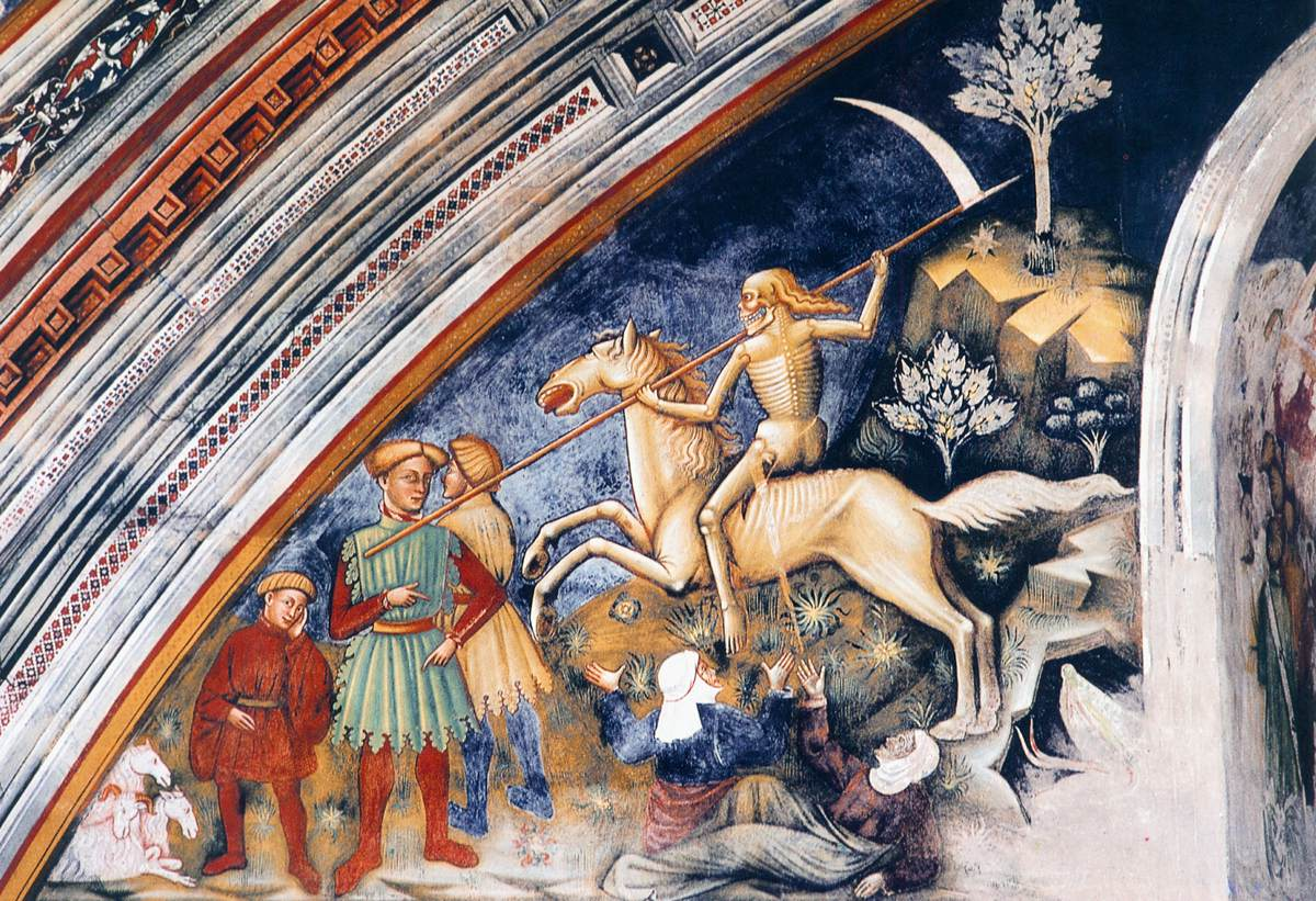 Fourth Horseman of the Apocalypse, fresco, 1420s, Santa Caterina, Galatina, Apulia, Italy