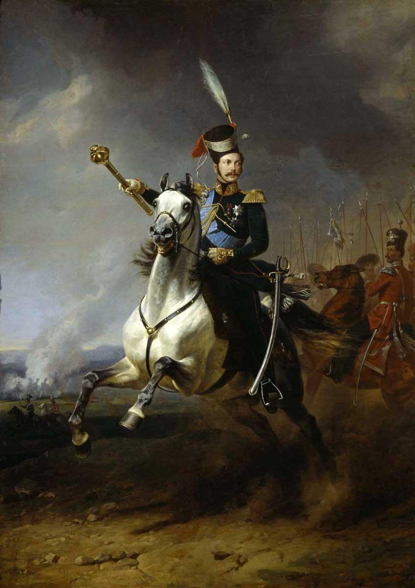 Future emperor Alexander II of Russia, 1840, Franz Kruger