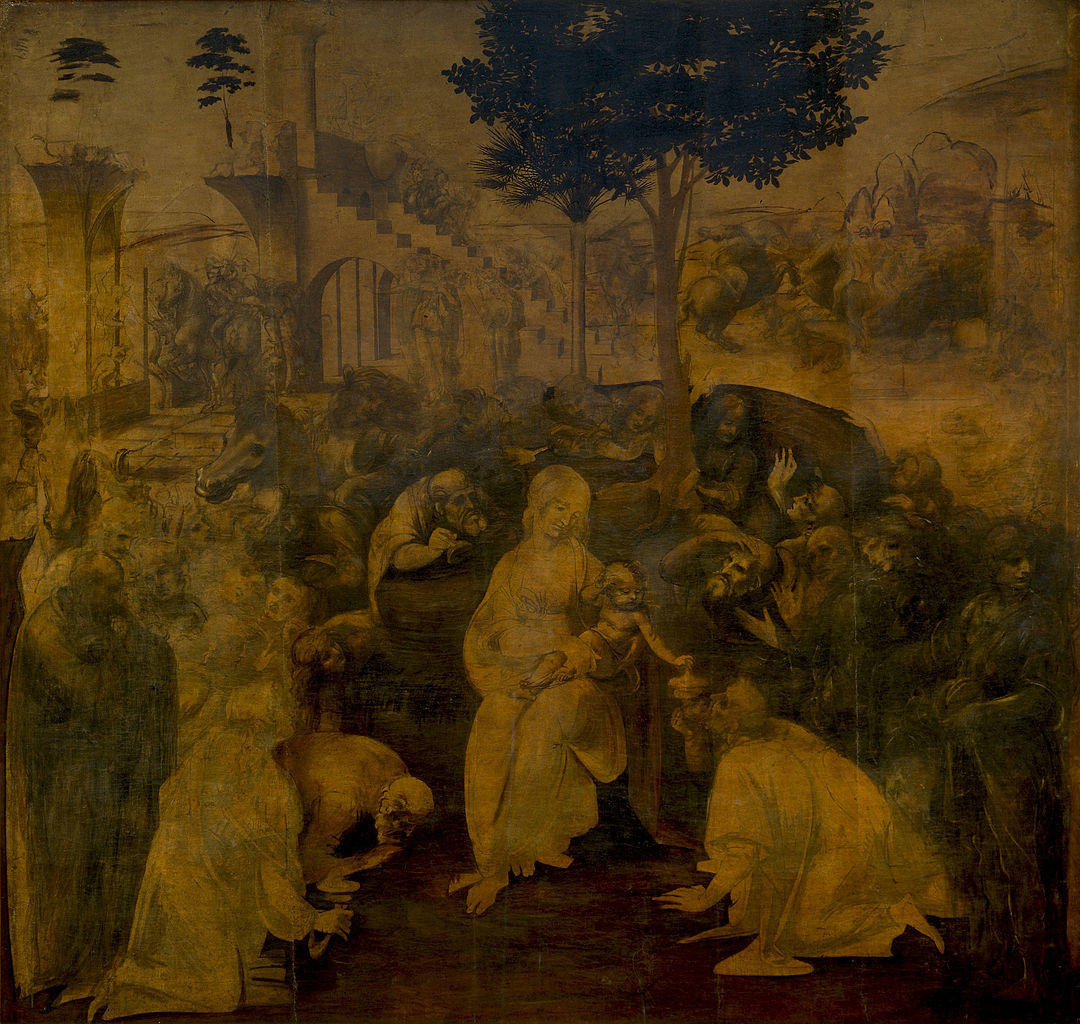 The Adoration of the Magi,1480-2, Leonardo da Vinci