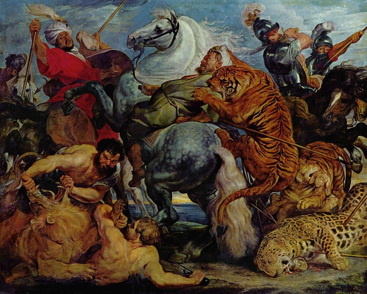 Tiger Hunt, 1617-8, Peter Paul Rubens