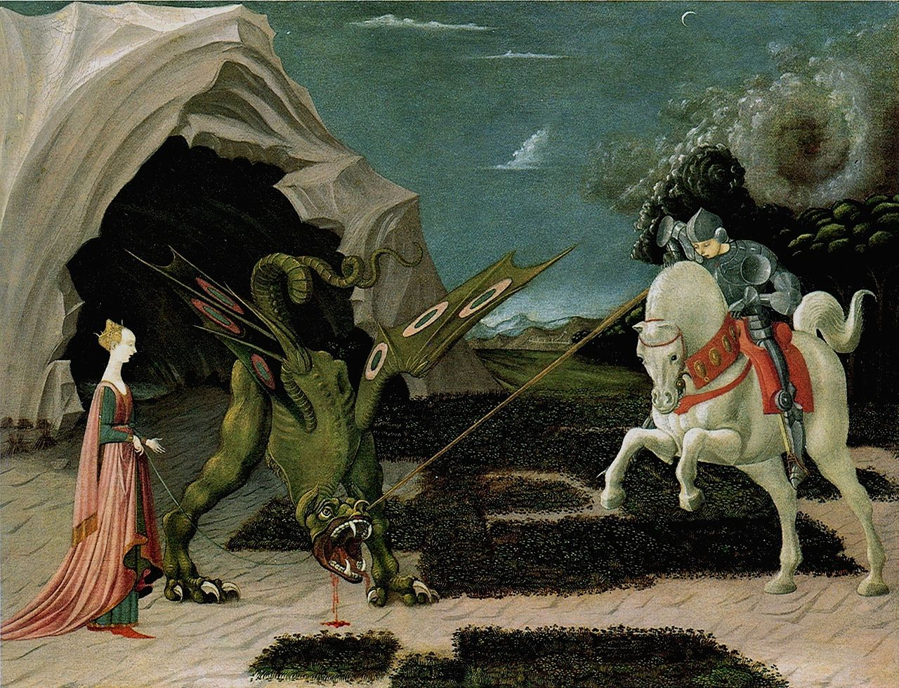 Saint George and the Dragon, 1470, Paolo Uccello, Florence, Italy