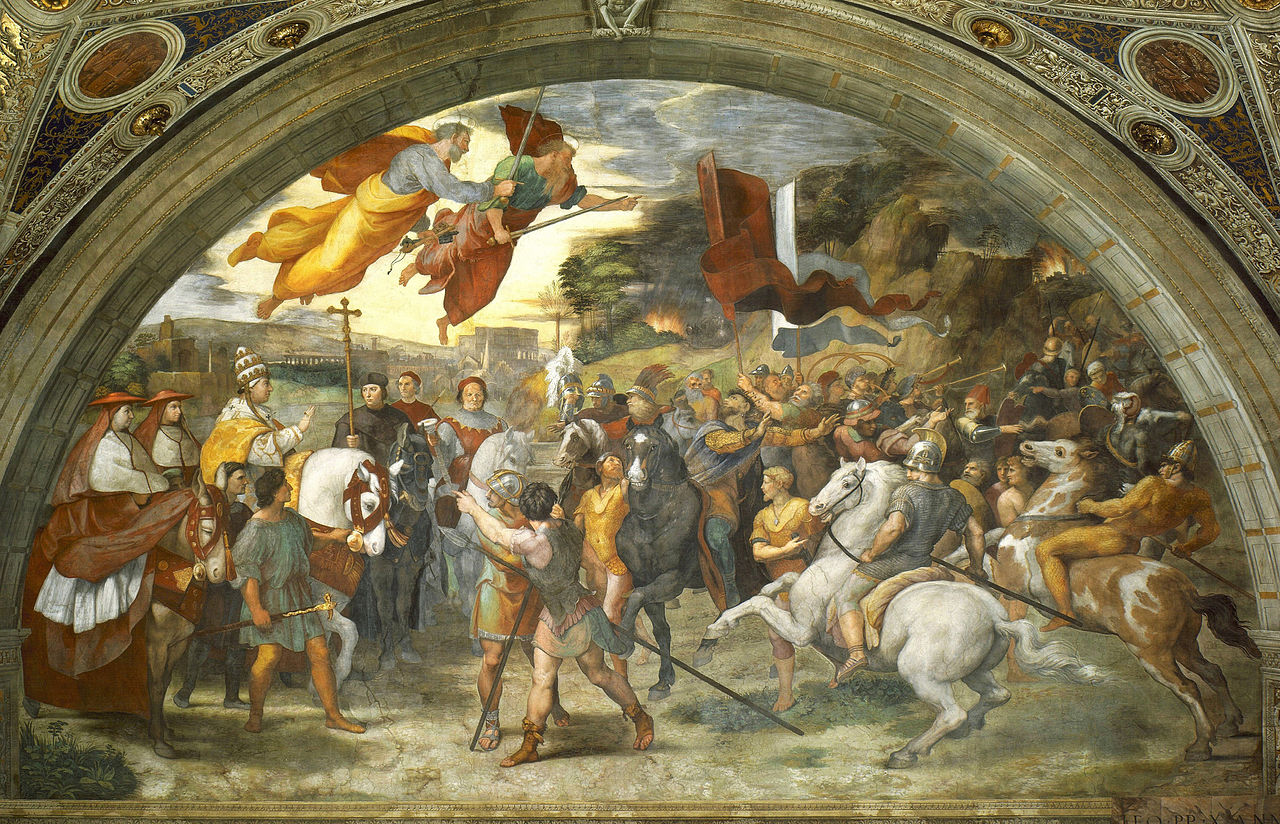 The Meeting of Leo the Great and Attila, 1514, fresco, Raphael, Vatican, Italy
