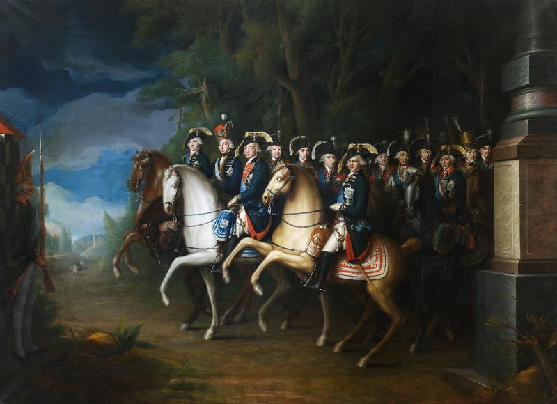 Emperor Pavel I with his retinue, 1799-1802, Johann Baptist von Lampi the Younger