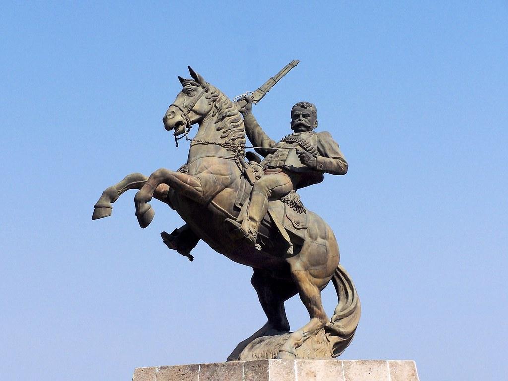 Statue of Emiliano Zapata, 1985 (?), Tulancingo, Hidalgo, Mexico