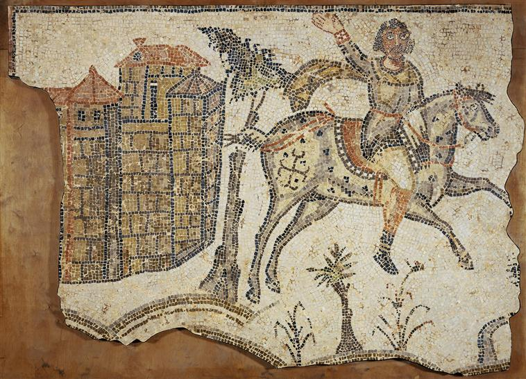 Mosaic with hunting (?) of a Vandal, Late 5th – early 6th century, Bord-Djedid, Carthage, Tunisia