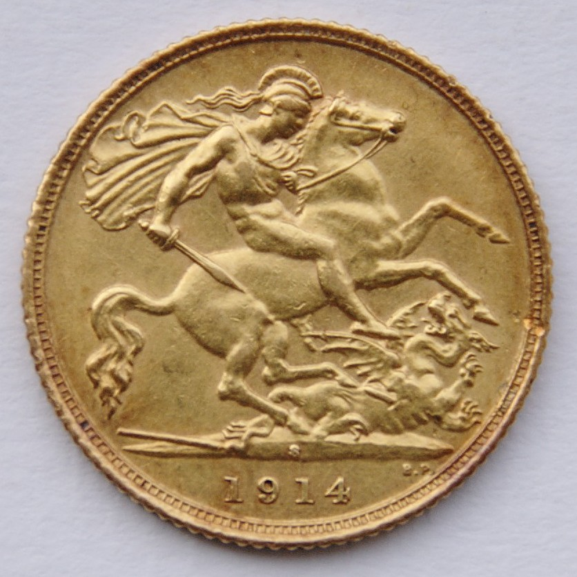 A half-sovereign,1914, minted in Sydney