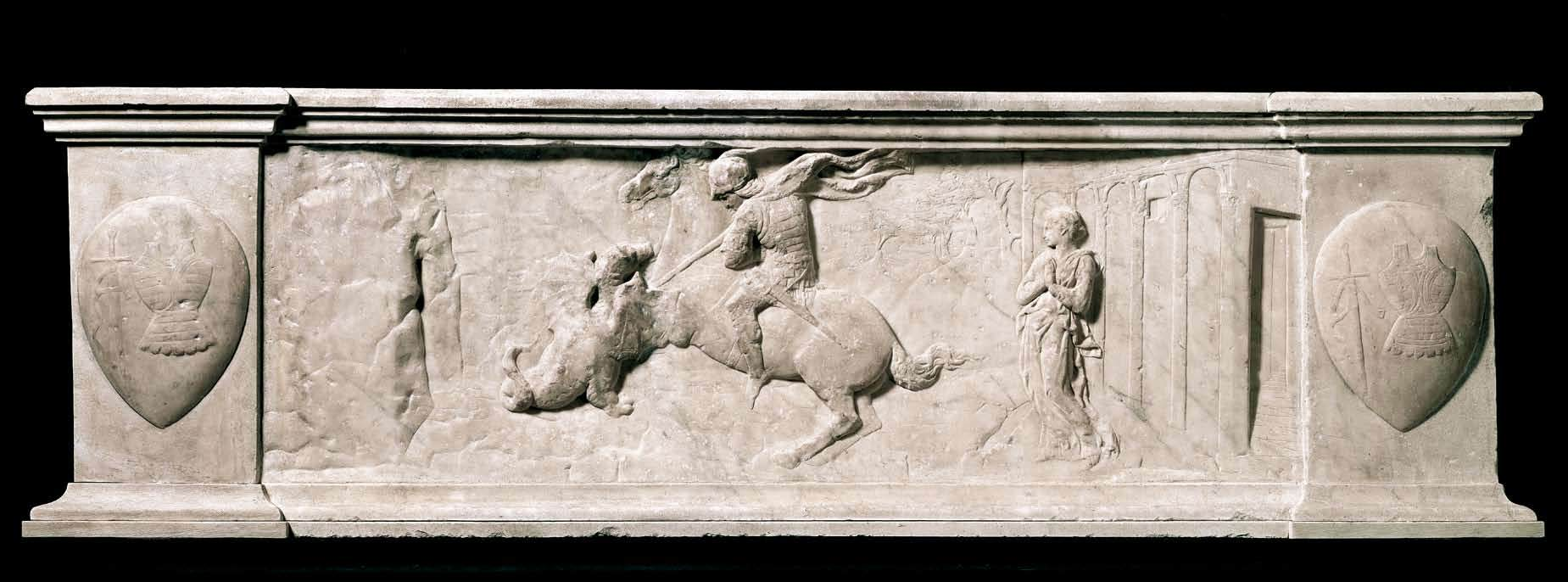 Saint George and the Dragon, cr. 1416, Donatello, Florence, Italy