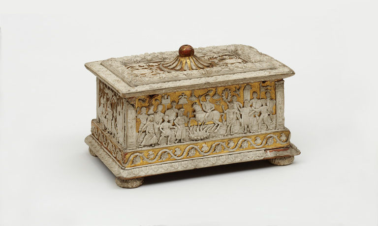 Casket showing Marcus Curtius leaping into the abyss, cr. 1500, Northern Italy