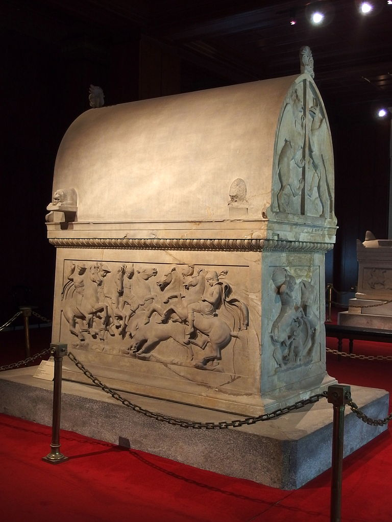 Lycian sarcophagus, end of 5th century BC, Chamber no. IV of the royal necropolis of Sidon, modern Lebanon