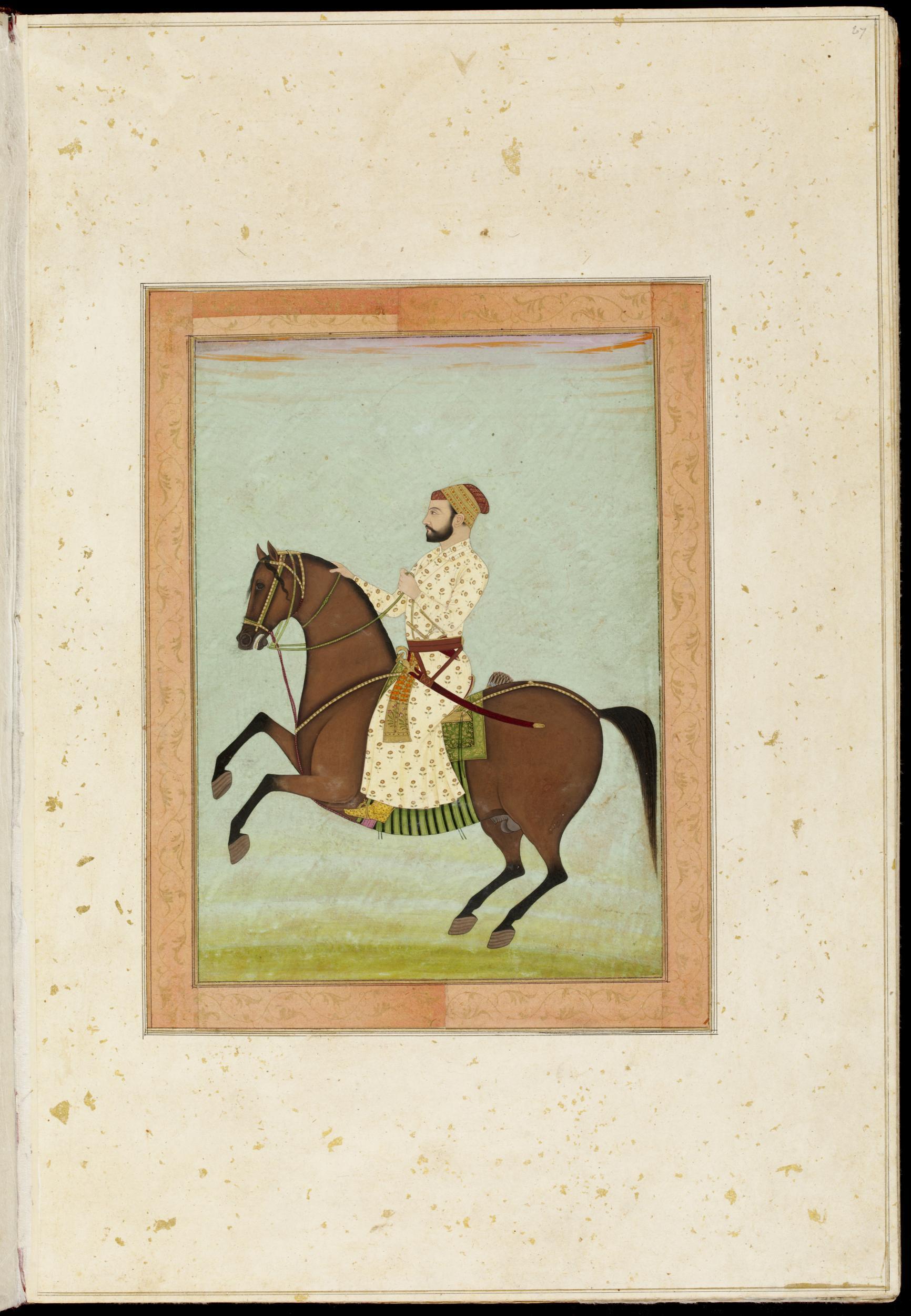 Mughal noble on horseback, cr. 1790, Mughal Empire