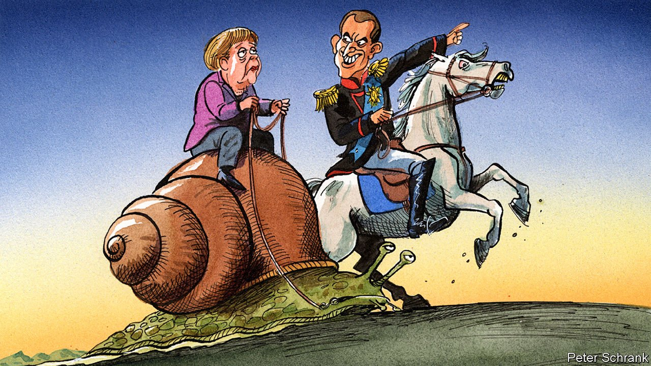 France's plans for euro-zone reform get a lukewarm German response, June 2018, Peter Schrank for 'The Economist', Great Britain