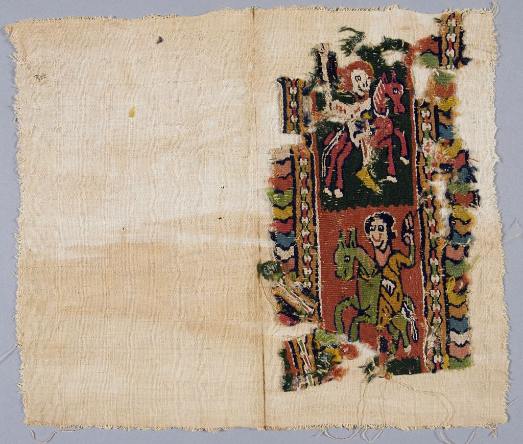 Textile Band with Two Figures on Horseback, 5th century, Coptic