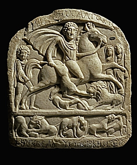 A votive tablet of a Thracian horseman, 2nd-3rd centuries AD