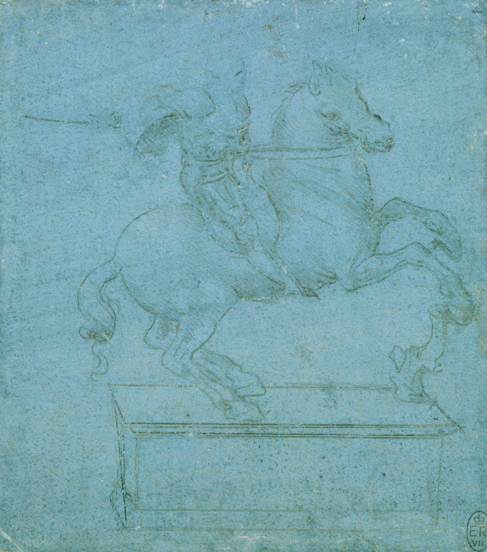 Study for an equestrian monument,c.1485-90, Leonardo da Vinci