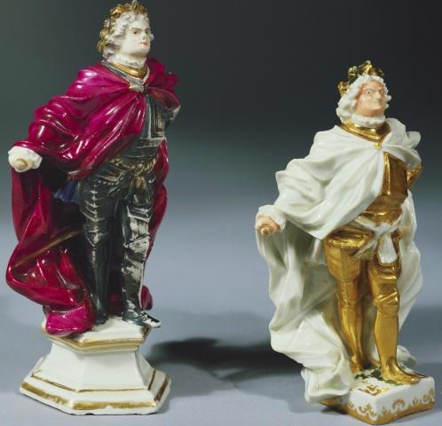 Augustus II porcelain figurine, cr. 1720