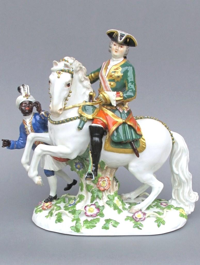 Empress Elisabeth of Russia on Horseback,cr. 1750, Johann Joachim Kaendler, Meissen