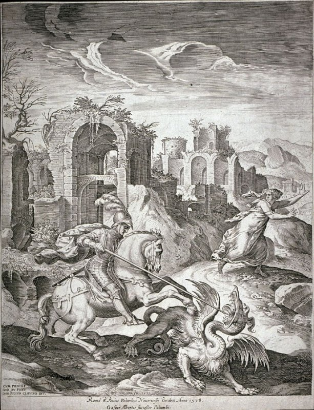 Saint George Killing the Dragon, cr. 1540, Giulio Clovio (Il Macedo), Rome, Italy