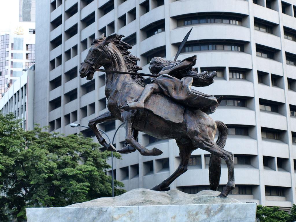 Statue of Gabriela Silang, 1971, José M. Mendoza, Makati City, Philippines