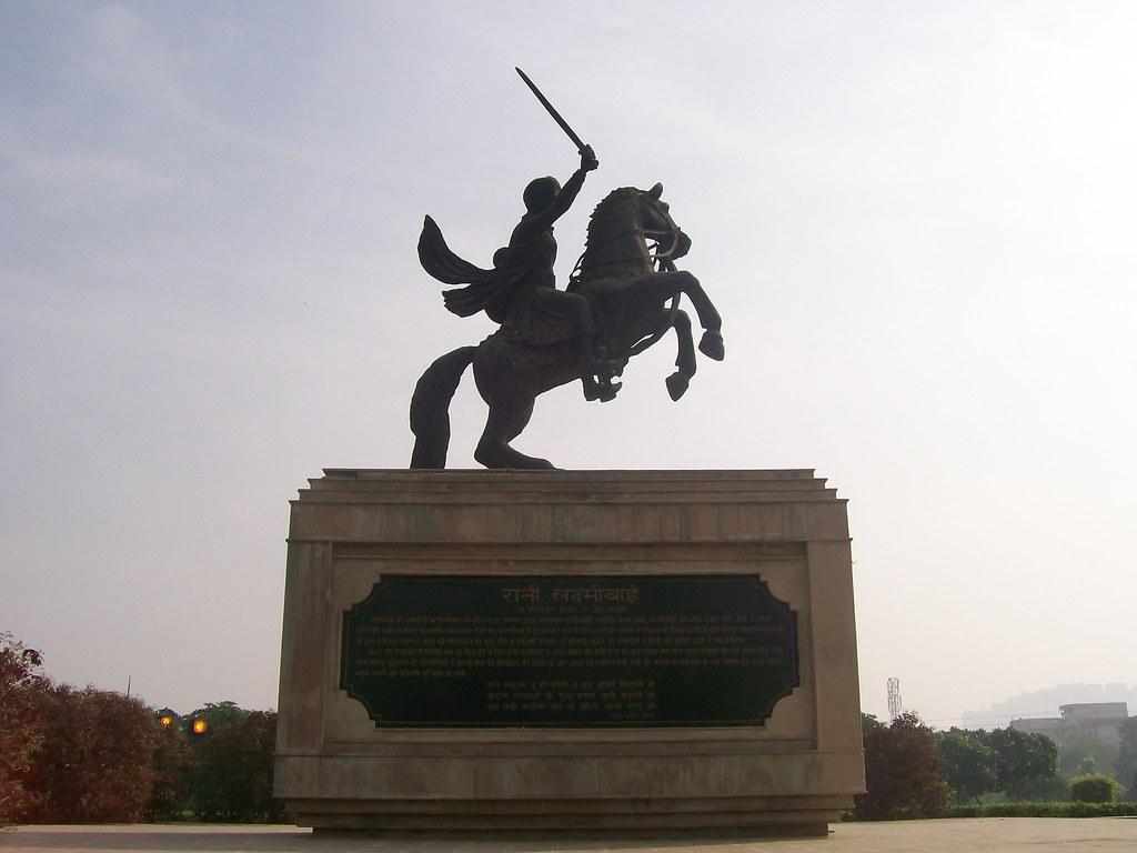 Statue of Rani Lakshmibai, ?, Swarna Jayanti Park, Ghaziabad, Uttar Pradesh, India