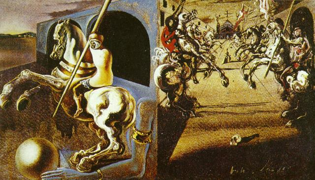 Equestrian Parade, possibly Set Design for 'Romeo and Juliet', 1942, Salvador Dalí