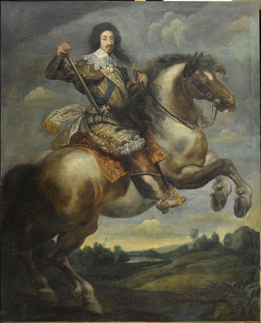 Equestrian portrait of Louis XIII, 17th century, Claude Déruet (attributed to)