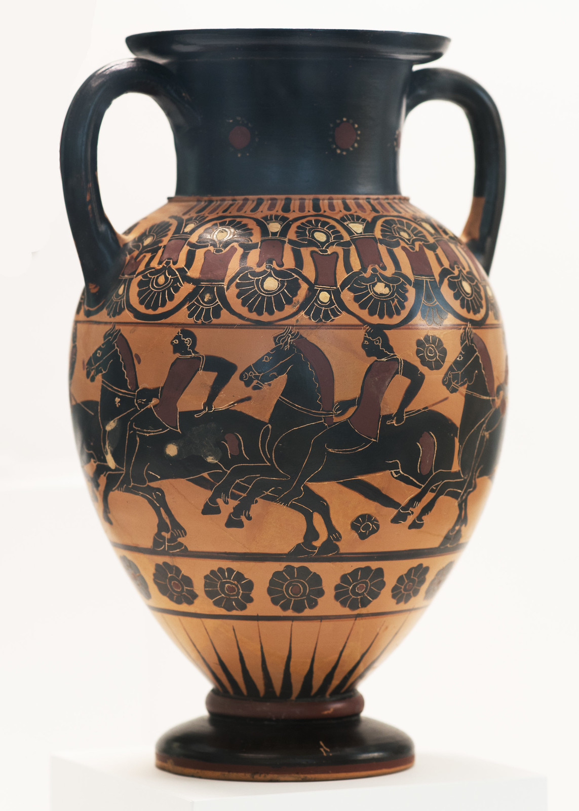 Amphora with riding youths, cr. 550-540 BC, Reggio di Calabria