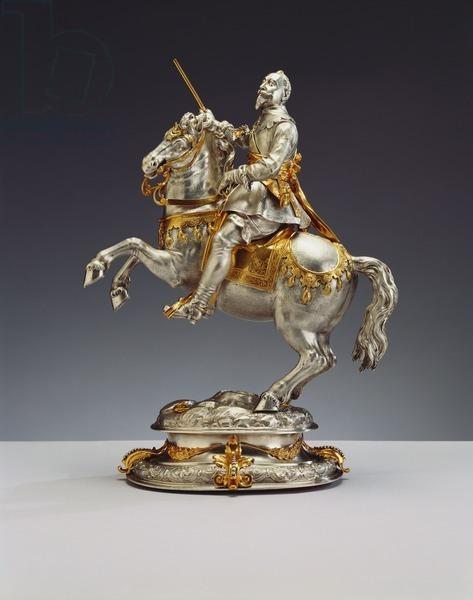 Equestrian statuette of Gustavus II Adolphus of Sweden, 1635, Daniel Lang, Augsburg, Germany