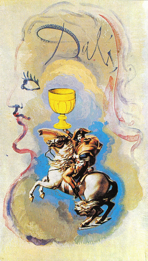 Knight of Cups, 1984, Universal Tarot deck, Salvador Dalí