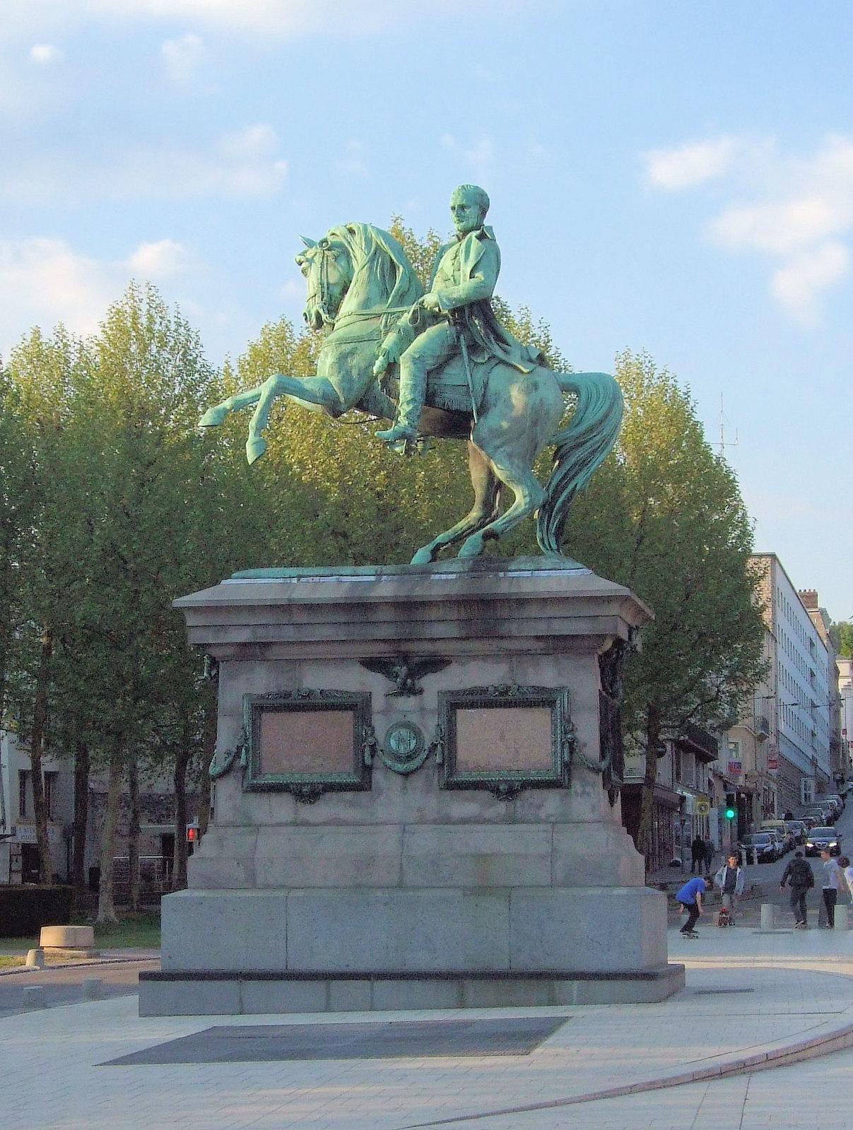 Statue of Napoléon I, 1865, Gabriel Vital Dubray, Rouen, France