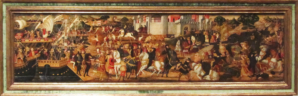 Cassone panel depicting episodes from the Aeneid, cr. 1470, Paolo Uccello, Florence, Italy
