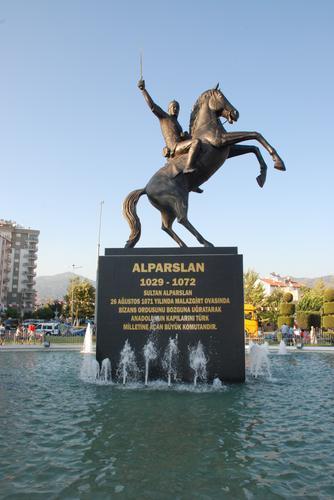 Statue of Sultan Alp Arslan, 2013, Mustafa Tunçay, Aydin, Turkey